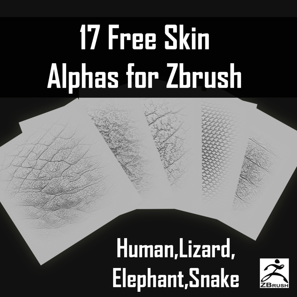 17 Free ZBrush Skin Alphas Pack Download | Free to ...