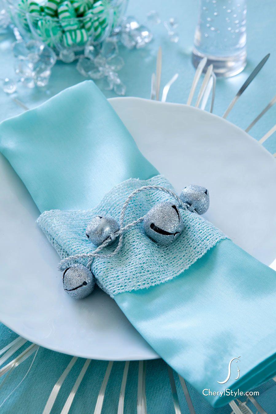 Unique holiday napkin ideas   Tisch dekorationen, Neue jahr und Türkis