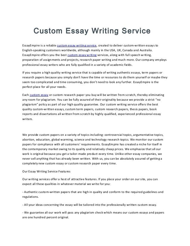 Custom Essay Writing Service Professays