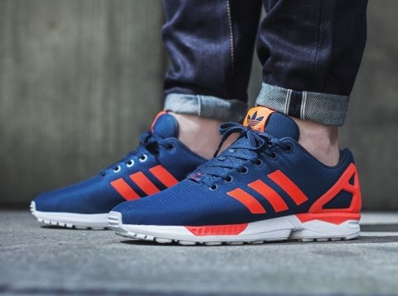 Adidas Zx Flux Dark Blue Orange