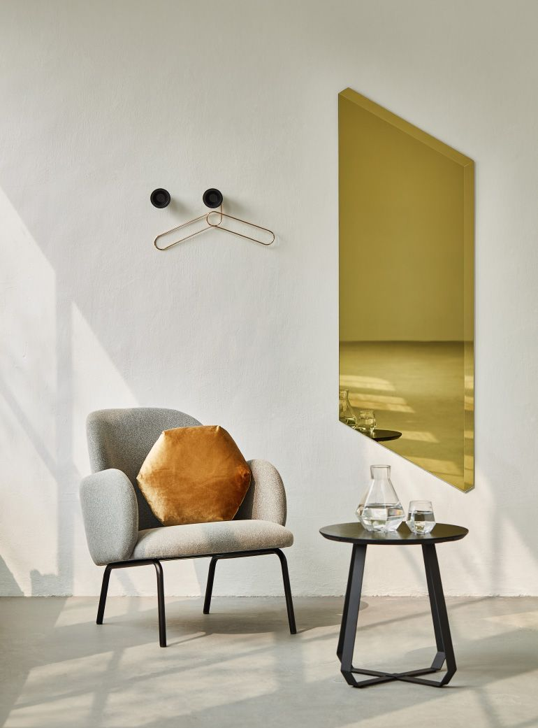 Grey Fabric Dining Chair Black Legs