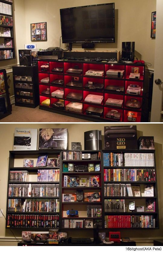 Video Game Console Collection   Beautifully Displayed!: