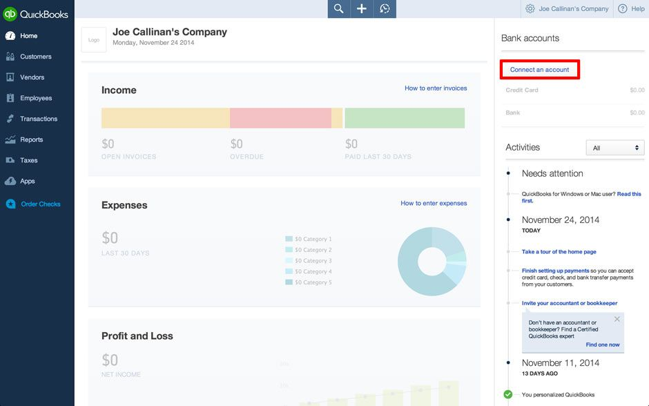 QuickBooks Online: How to Connect Bank & Download Data | QB
