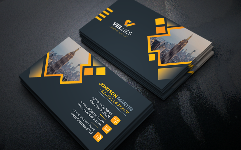 Vellies Creative Design Card Corporate Identity Professional Business Card Design Business Cards Layout Business Card Design
