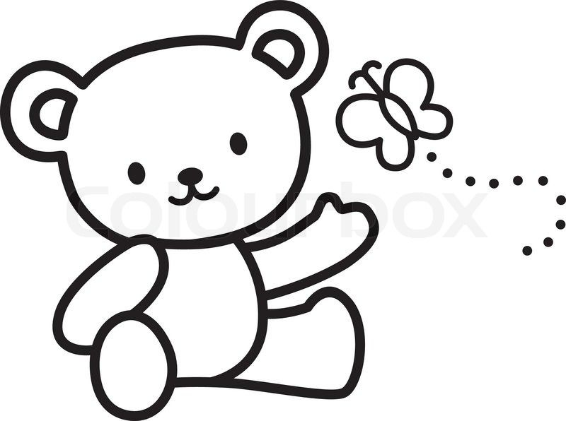 Stock Vector Of 'Illustration Of Very Cute Teddy Bear With