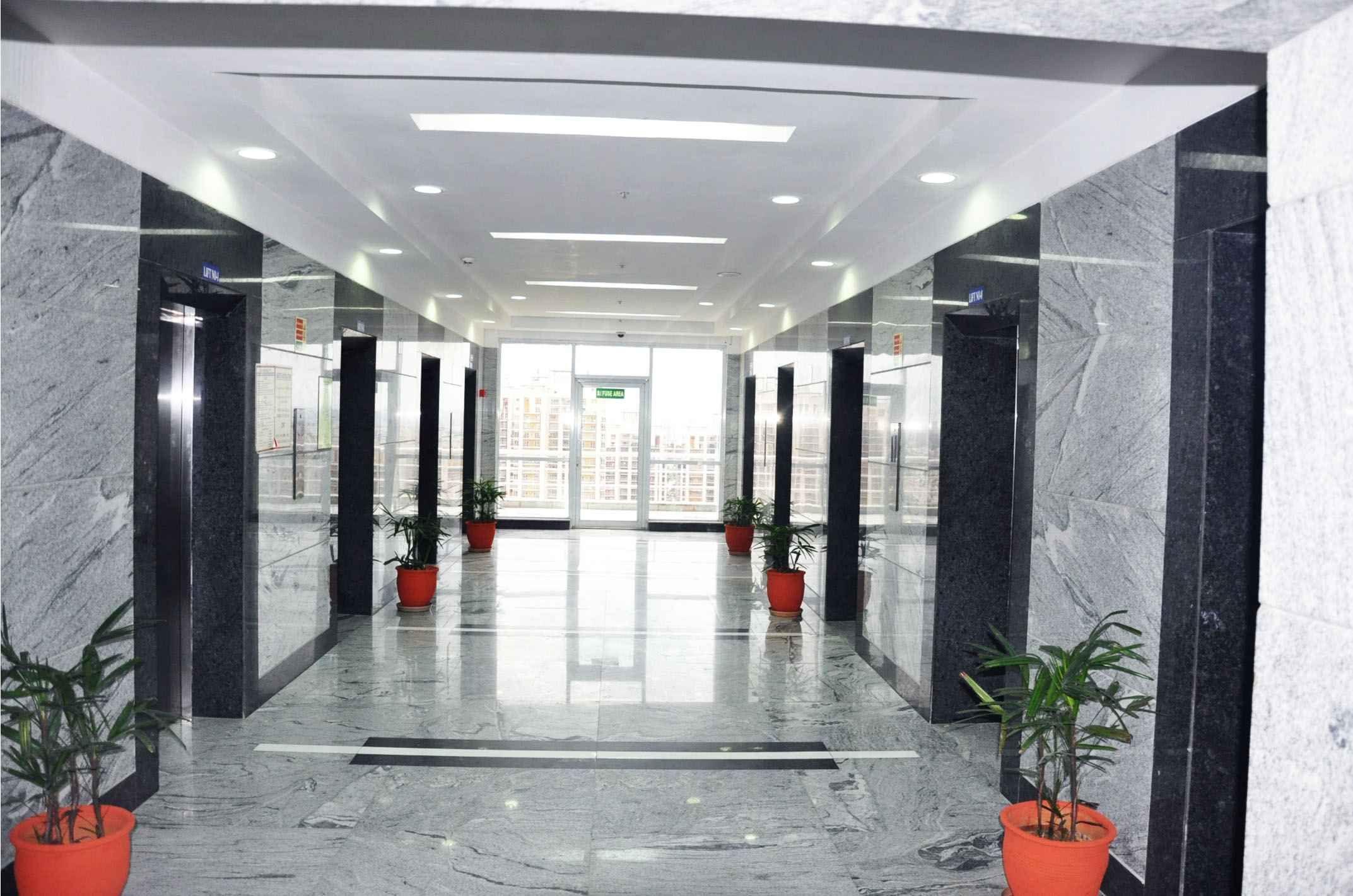Corridor with granite flooring designed by Horizon Design ...
