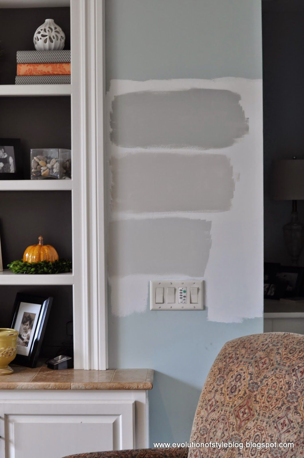 The top color is almost a perfect match to one of my favorite colors of all time silver sage but it is gray wisp benjamin moore which reads more