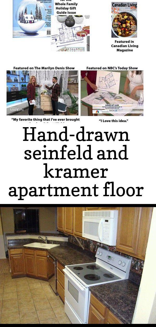 Hand Drawn Seinfeld And Kramer Apartment Floor Plan Poster