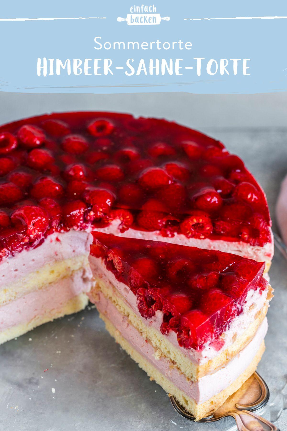 Himbeer Sahne Torte Einfaches Rezept Die Besten Backrezepte Mit Gelinggarantie Rezept In 2020 Kuchen Und Torten Rezepte Himbeer Sahne Torte Kuchen Und Torten