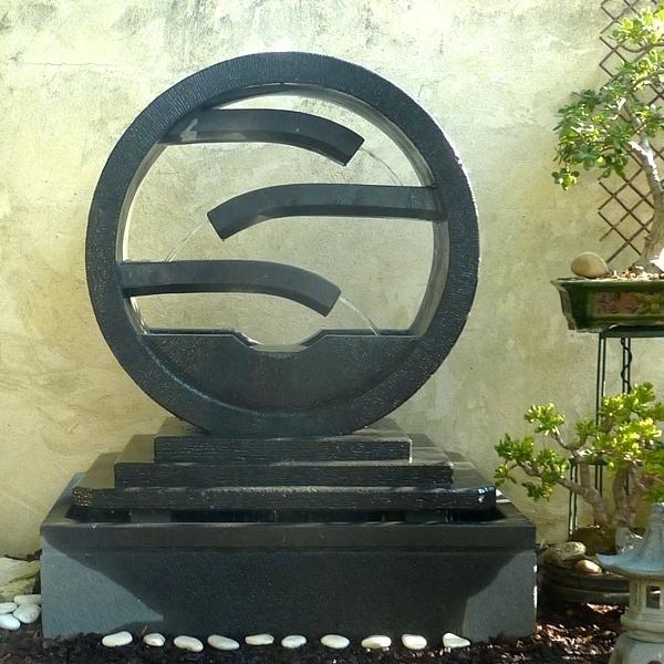 fontaine jardin zen exterieur fontaine