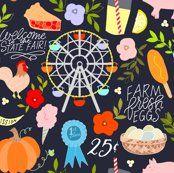 Meet Me at the Fair  fabric - mandyenglandfabric - Spoonflower