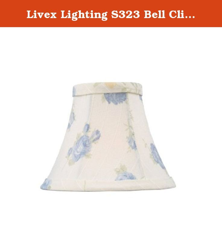 Livex Lighting S323 Bell Clip Chandelier Shade, White with Blue ...