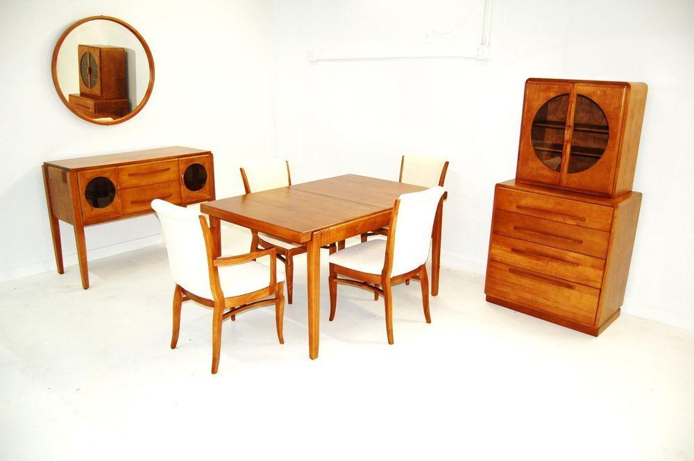 Art Deco Dining SetMid Centurybuffet Or CredenaVitrineTable
