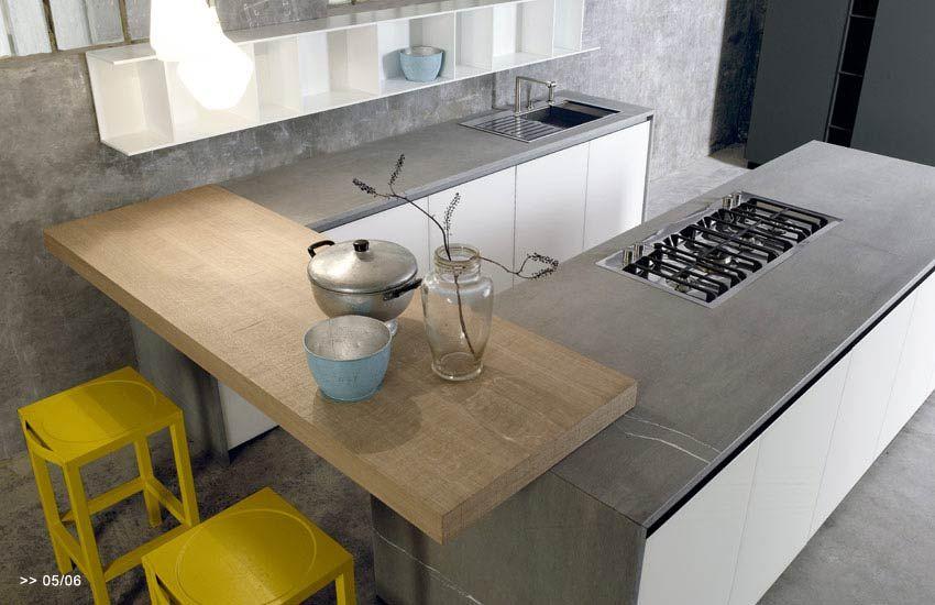 Cucina con piano snack | Consigli arredamento nel 2019 | Cucine ...