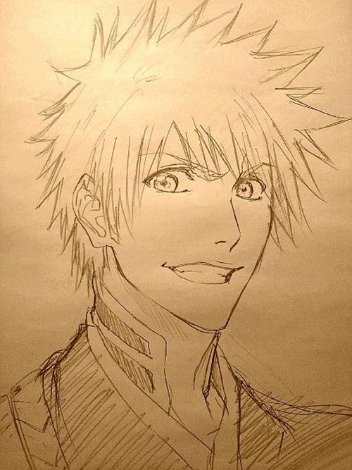 Anime Manga Bleach Character Ichigo Drawing Of Who Ever Did This Is Good