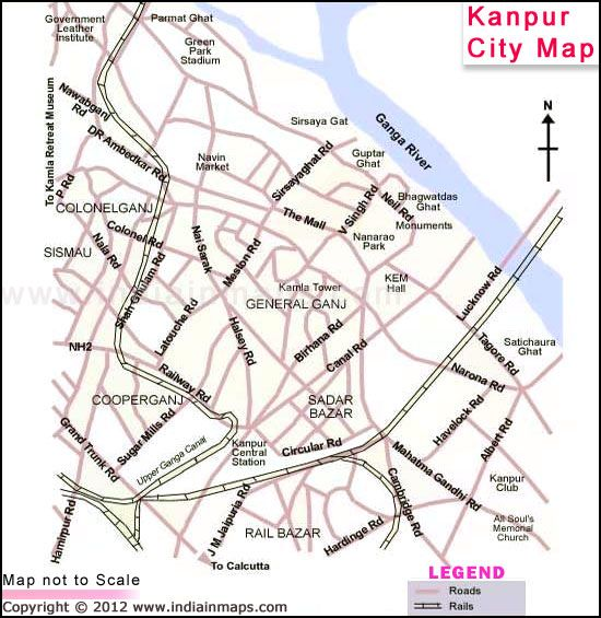 Kanpur City Map City Map in India Pinterest City maps and City