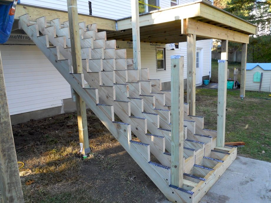 Attaching Bottom Deck Posts THISisCarpentry Building a