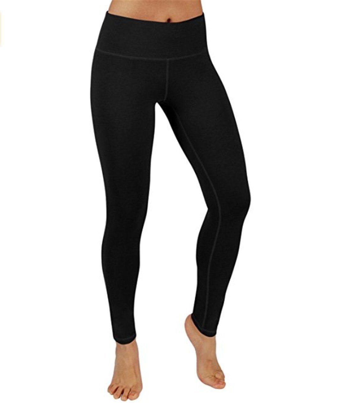 4813076149 Viger Plus Fold-Over Waistband Stretchy Cotton Blend Yoga Pants Black S. 88%