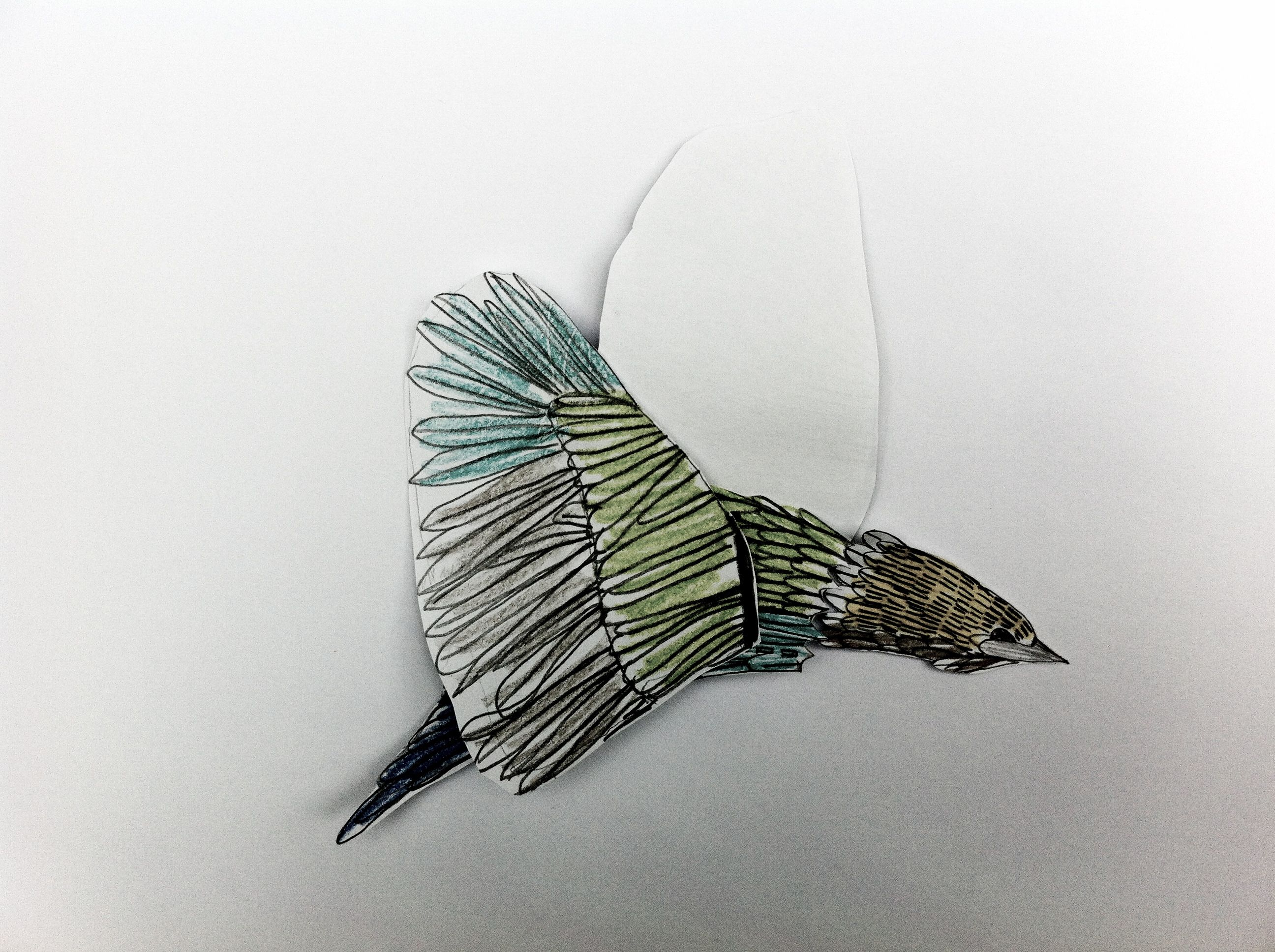 Bird model for a baby's mobile by Willy Ollero