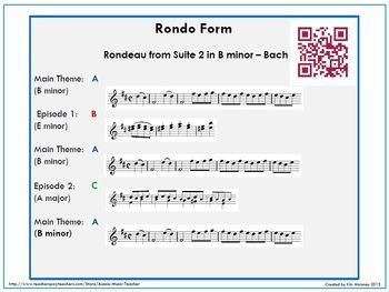 Music Form: FORM in MUSIC: Binary, Ternary and Rondo | Qr codes ...