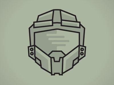 Master Chief Helmet Halo Tattoo Gaming Tattoo Helmet Tattoo