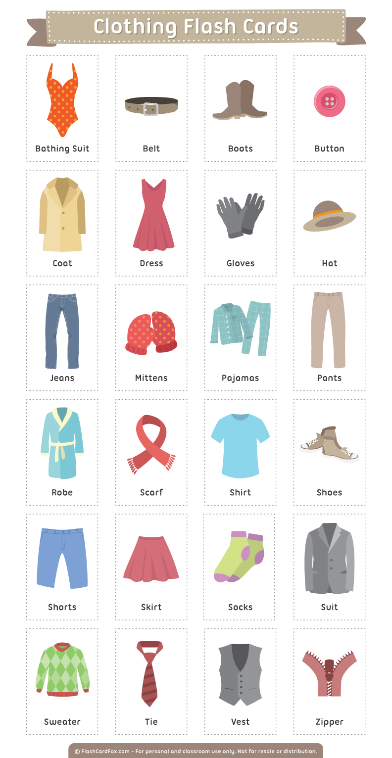 Clothes vocabulary american english