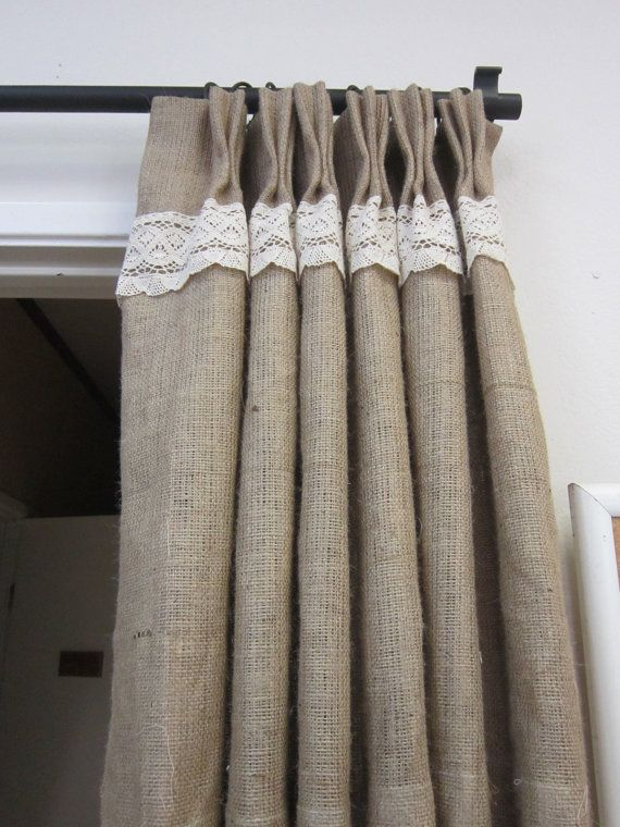 Burlap Curtain Panels Pinch Pleat Panels Curtains And Window