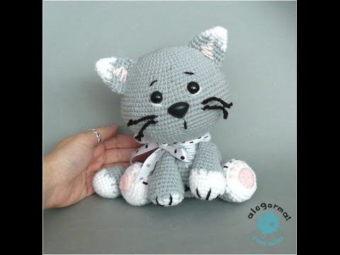 Amigurumi Kitten Patterns : Gatito amigurumi kitten parte tejiendo la cabeza youtube