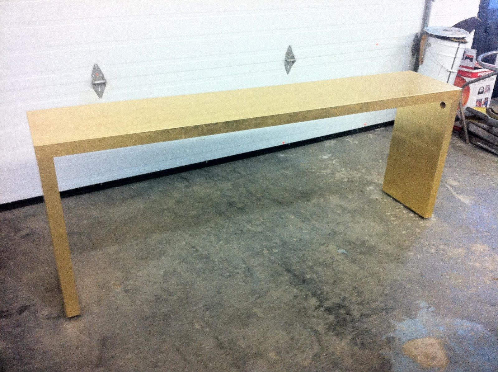 ikea malm console table by bijou and boheme clever girl spray paint gold - Console Tables Ikea