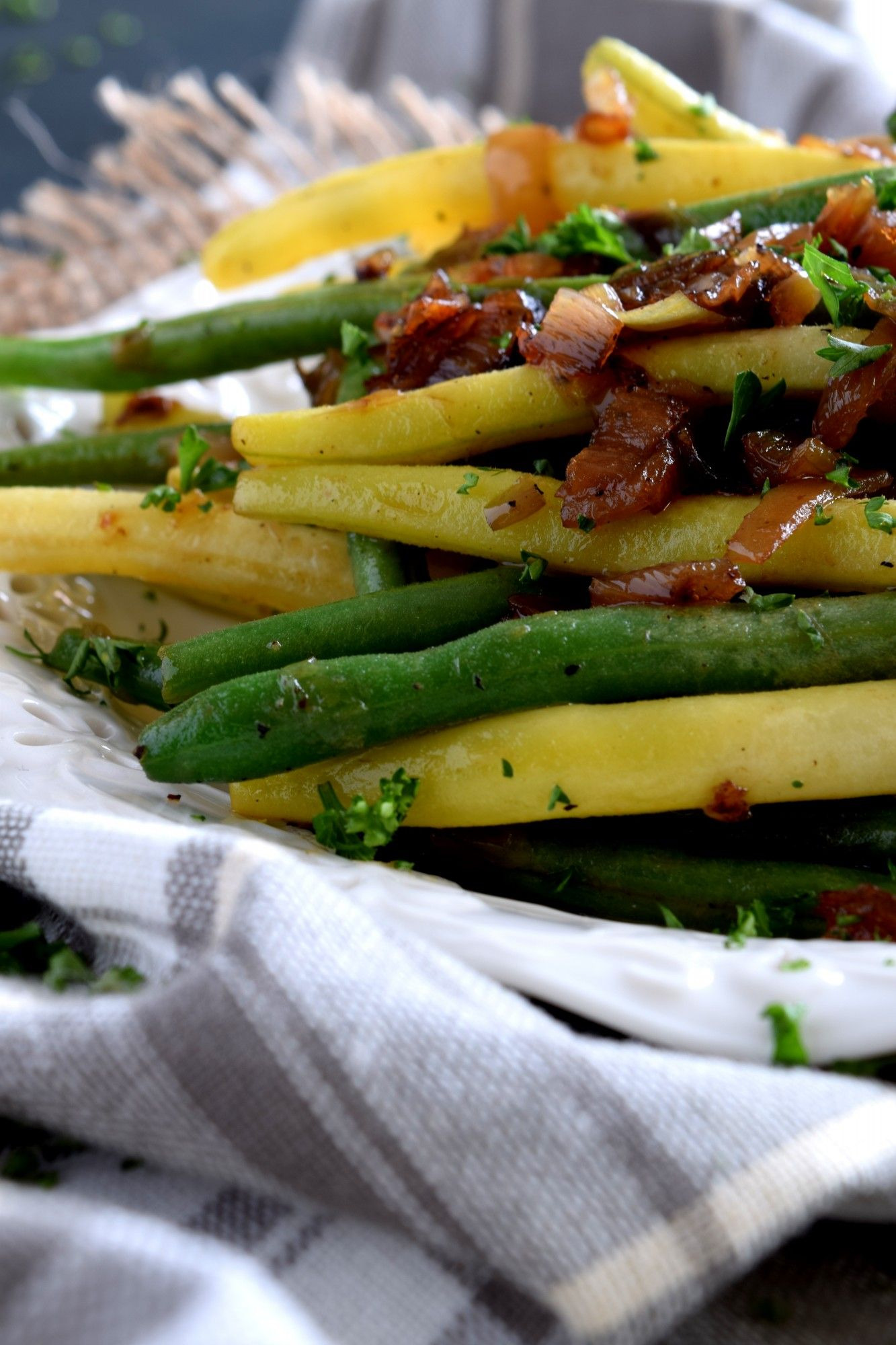 Green Beans Tossed With Shallots and Sesame images