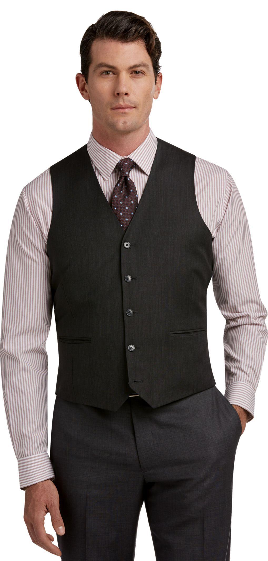 09b62287b21c Traveler Collection Slim Fit Sharkskin Suit Separate Vest | Products ...