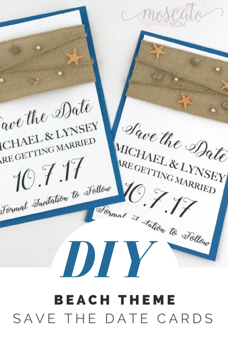 how to make beach theme save the date cards for your beach theme