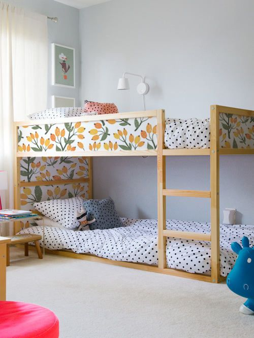 Letto A Castello Ikea Kura.Ikea Kura Bed Removable Stickers Orange And Leafs Ikea