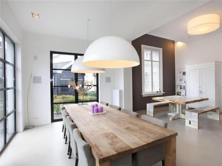 Gietvloer strak en toch warm interieur met goede sfeer Hout en - lampe für wohnzimmer