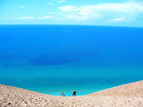 Sleeping Bear Dunes -  Michigan! A National Lakeshore, and we always hike to the lake and back.