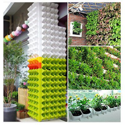 Stackable 2 Pocket Wall Planter Self Watering Hanging Flower Pot