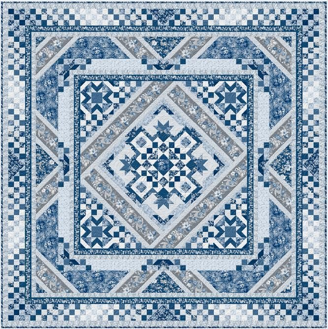 Courtyard Bom Two Sizes Boo Boo Bundle Backing Included Block Of The Month Quilt Kit Quilts