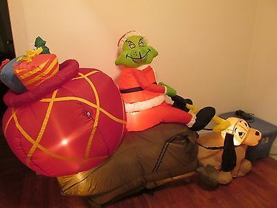 Inflatable Air Blown The Grinch Stole Christmas Over 7