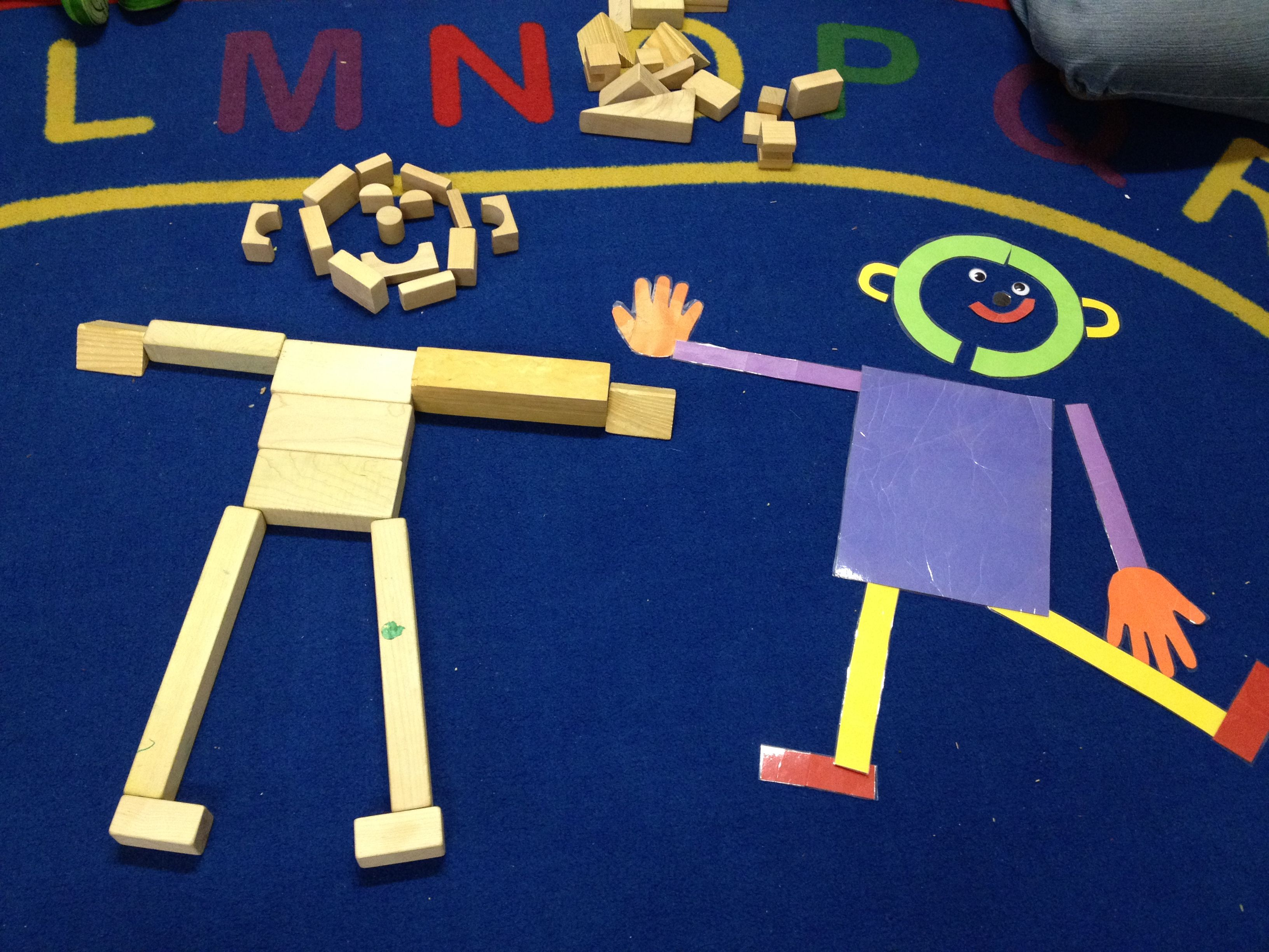 Mat Man Done In Blocks To Teach Body Parts