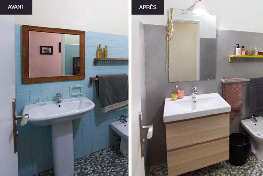 carrelage salle de bain avant