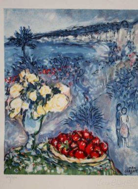 Marc CHAGALL Fruits and Flowers Facsimile SIGNED Limited Litho Print