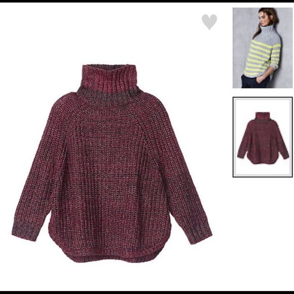 Mock Turtleneck Chunky Sweater NWOT Beautiul oversized soft and ...
