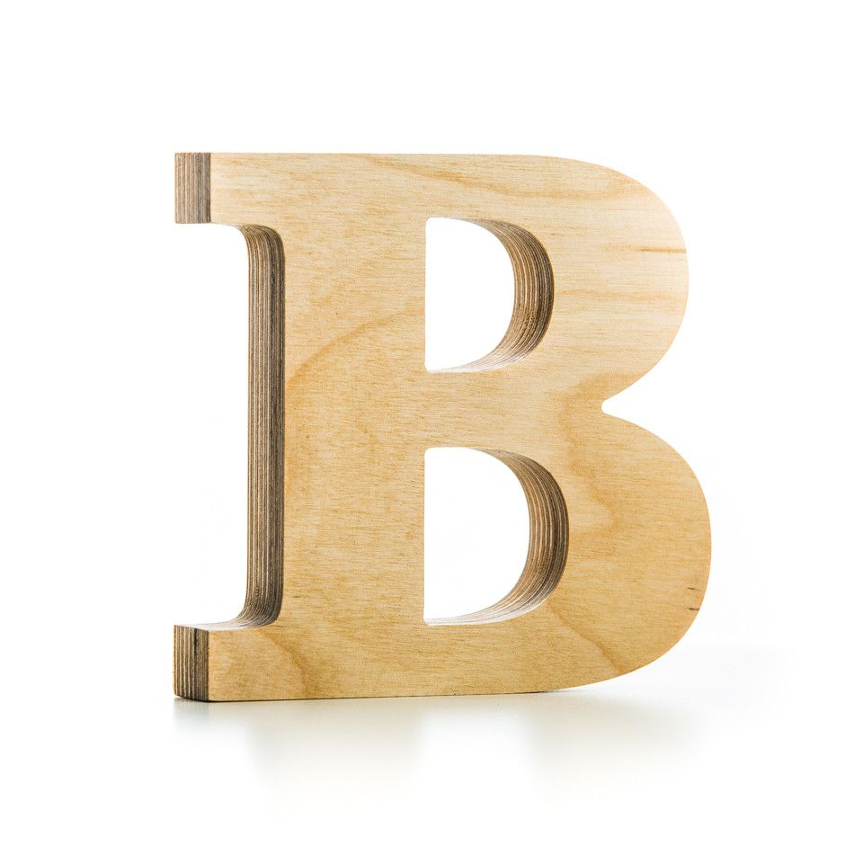 B wooden letter wooden letter crafts decoration and for Wooden letters for crafts
