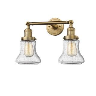 Photo of Innovations lighting Bellmont 2 light adjustable wall lamp (light bulbs included / vintage light bulb included / dimmable – shabby – brushed brass – light bulb