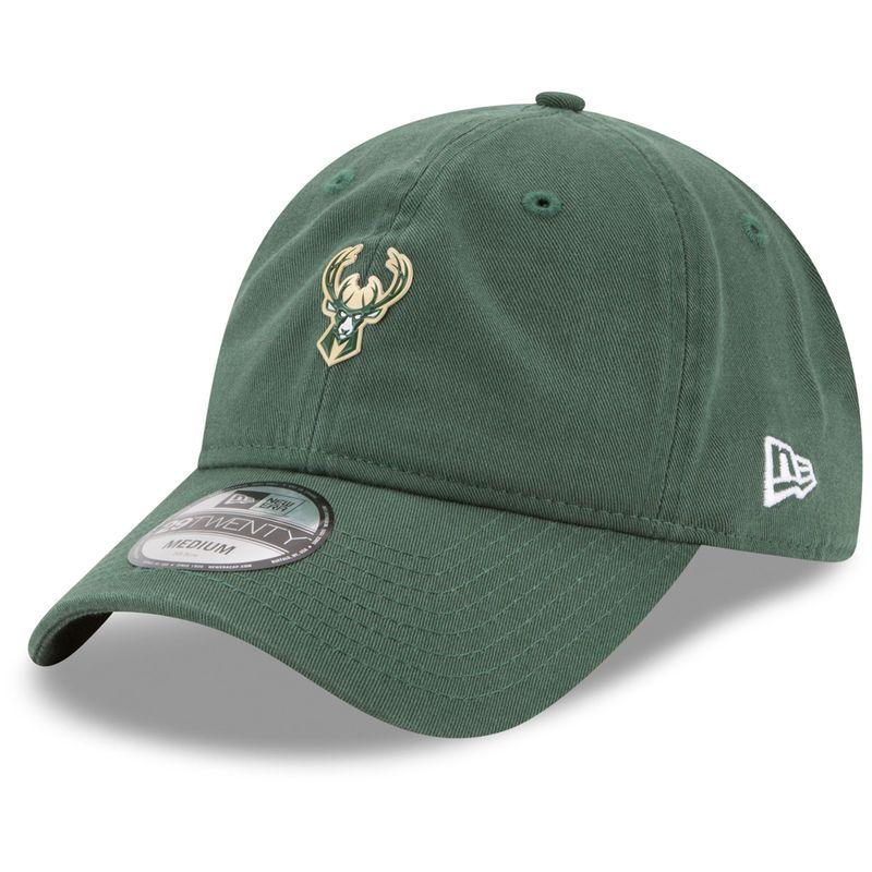 Milwaukee Bucks New Era On-Court 29TWENTY Fitted Hat - Hunter Green 18ccd6e9685