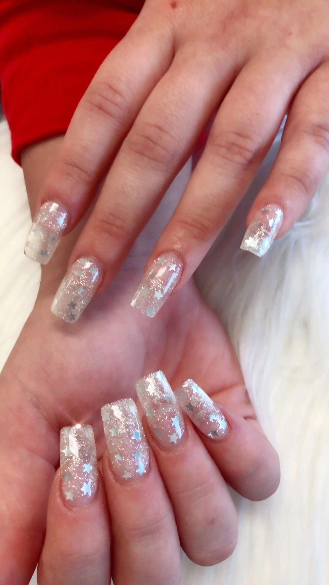 The Perfect Base For Nails Well Done Half Done In 2020 Nail Extensions Acrylic Christmas Nails Acrylic Bling Nails