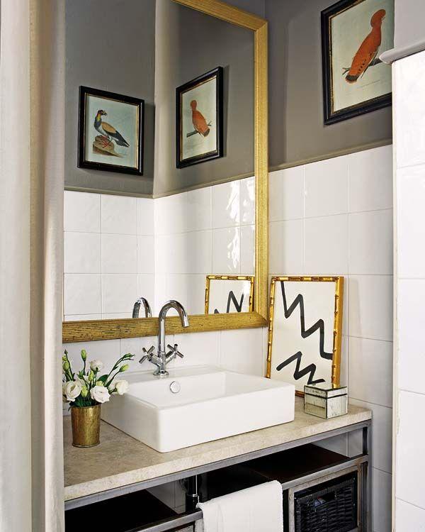 Varma metaller är en trend på intåg Salle de bains, Salle et Sale