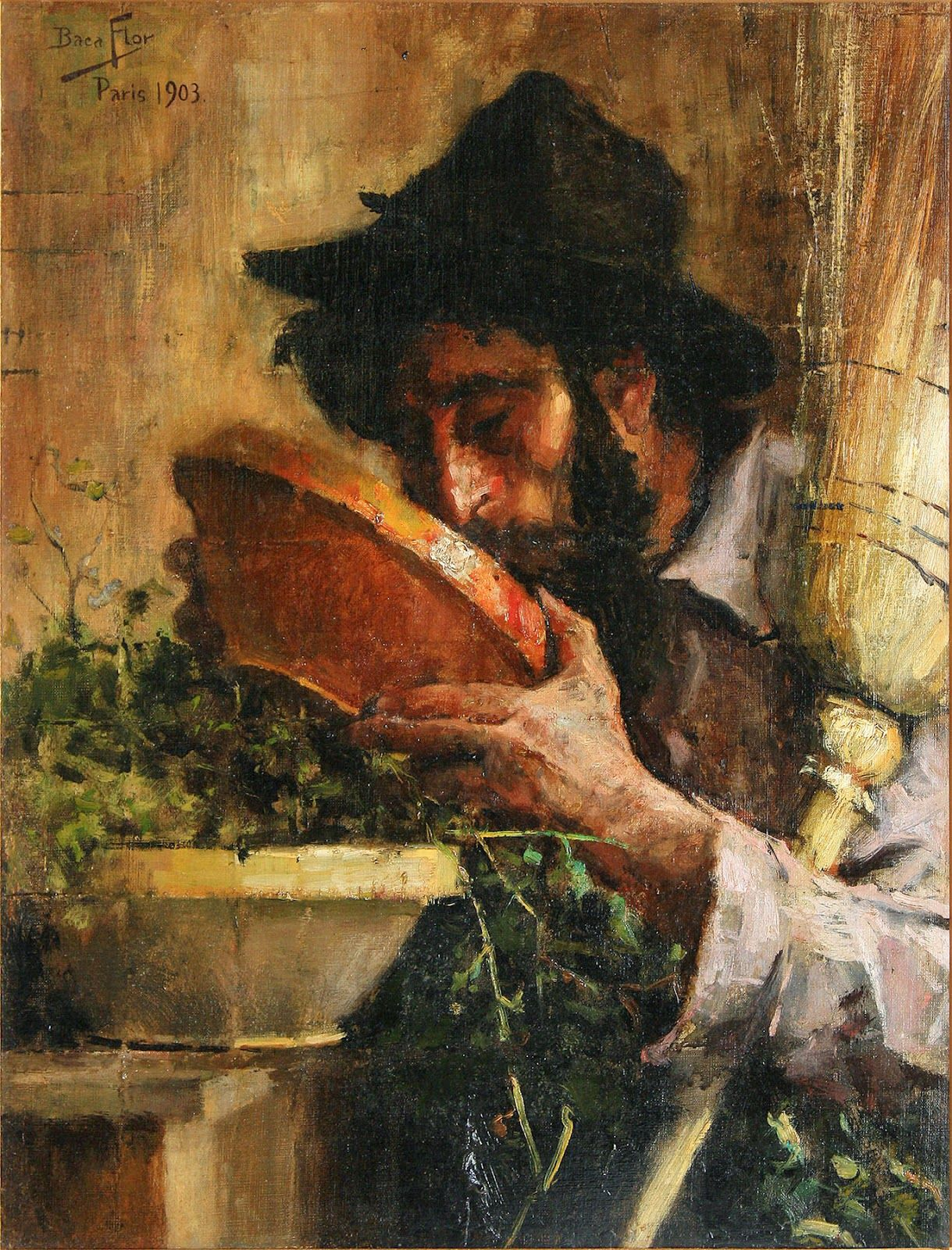 carlos baca flor anciano limpiador tomando agua 1903 carlos