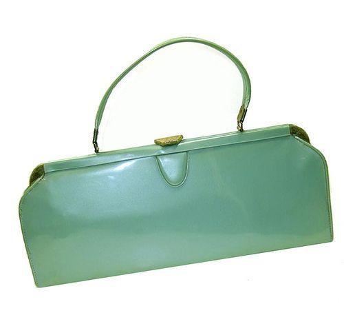 Vintage 1950's aqua blue purse | Blue purse, Aqua blue and Aqua