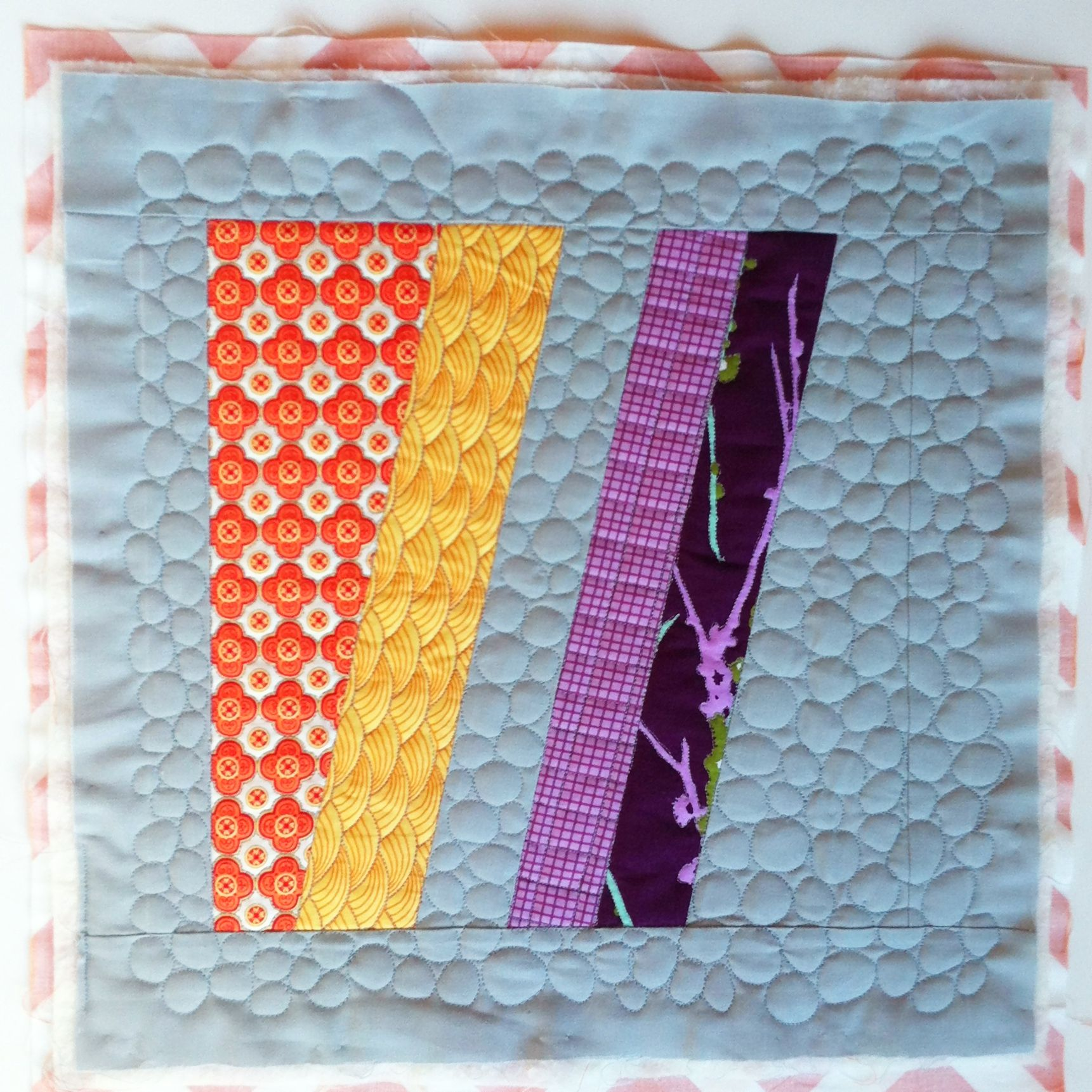 Quilting Done On The Magnum Block For Skill Builder BOM